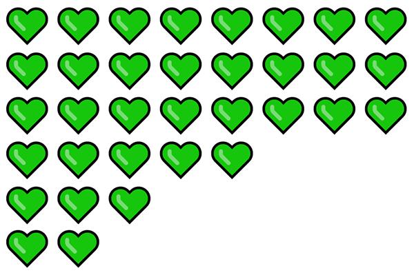 Gröna hjärtan